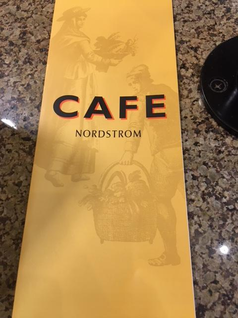 Nordstrom Cafe is a nice spot to snag a quick meal