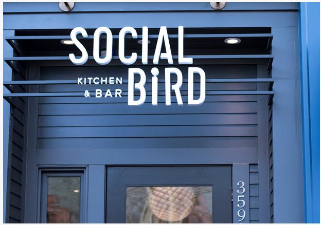Socially distance at Social Bird